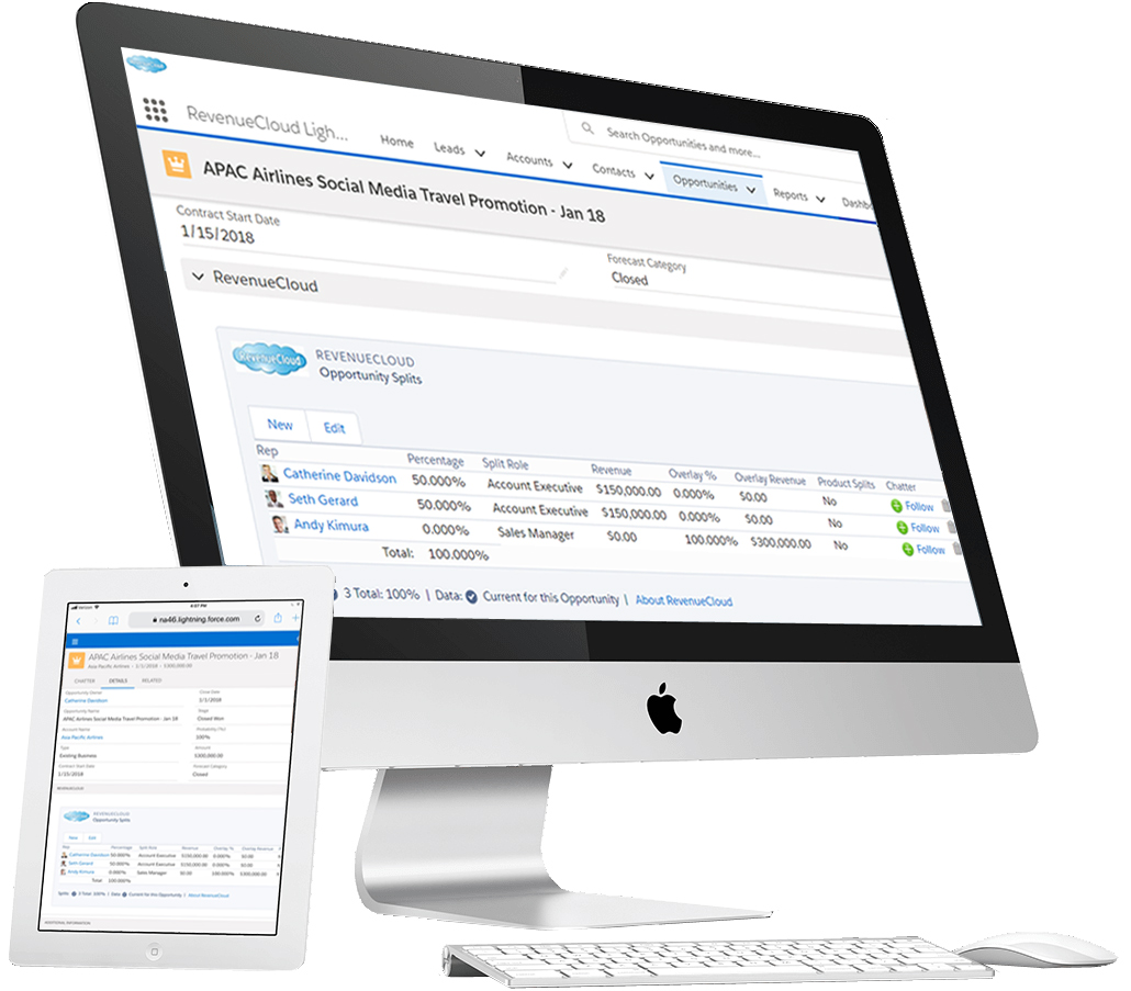 RevenueCloud is the gold standard for Opportunity Splits and Recurring Revenue Management in Salesforce.